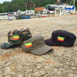 Army cap Rasta flag | woodland