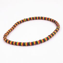 Tube surf Rasta necklace