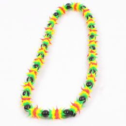 Rasta glow in the dark Necklace