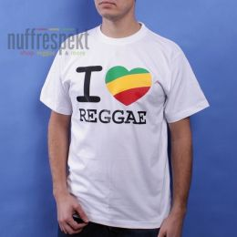 I Love Reggae t-shirt - Irie Lion (white)