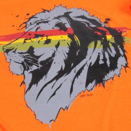 Jah Lion t-shirt | orange