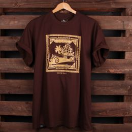 Run The Track - Roots Shack t-shirt | brown