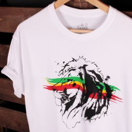 Jah Lion tshirt | white
