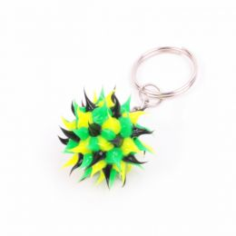 Jamaican colours glow in the dark key ring