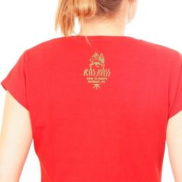 RasBass  ladies tshirt - Lion - red