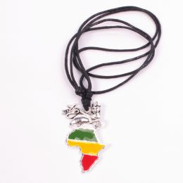 Lion of Judah and Rasta Africa pendant