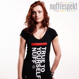 True To Yourself women's t-shirt - Nuff Wear 0813 - black
