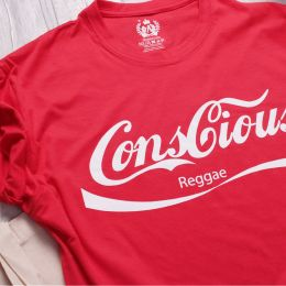 Conscious Reggae red t-shirt