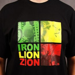 T-shirt Iron Lion Zion - czarny