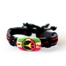 Bracelet peace | Red + Rasta