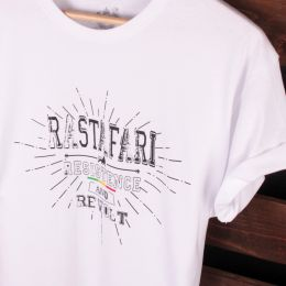 Rastafari Resitance and Revolt | T-shirt biały