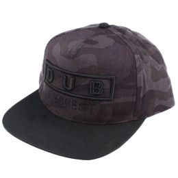 Dub Respect snapback cap | Dark Midnight camo