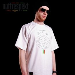 T-shirt Nuff Lion Roots Wear 01213 - white