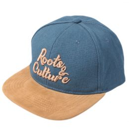 Roots & Culture snapback cap |  Blue & Camel