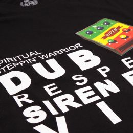 Spiritual Steppin' Warrior / Dub Siren | black tshirt