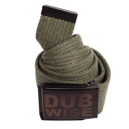 Dubwise cotton olive belt