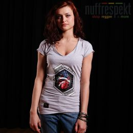 Top damski - Nuff Wear Heart tshirt 01713 - gray