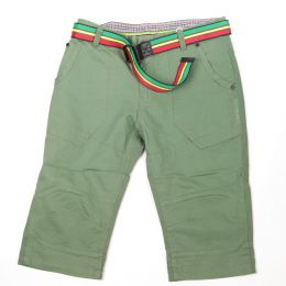 Irie Lion shorts with belt | Olive - Rasta