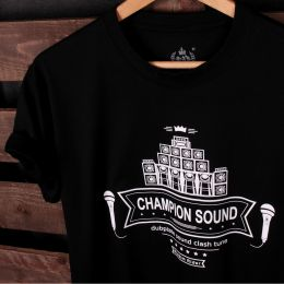 Tshirt Champion Sound | Dubplate Sound Clash Tune - czarny