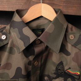 Lion of Judah Rasta Army style shirt