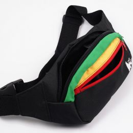 Dub Lion rasta/black bum bag
