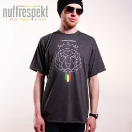 Tshirt Nuff Lion Roots Wear 01213 - graphite melange