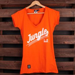 Ladies tshirt Jungle is massive | orange