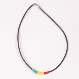 Rasta thong necklace