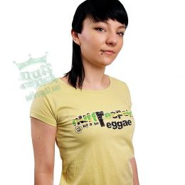 Let It be Reggae Nuff Respekt -jamaica flag -damski tshirt
