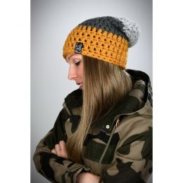Handmade hat - dark yellow