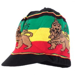 Rasta Dread hat - Lion of Judah | black and Rasta