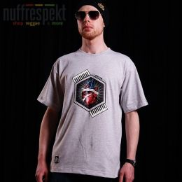 Nuff Wear Heart tshirt 01713 - gray