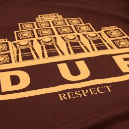 T-shirt Dub Respect | brąz