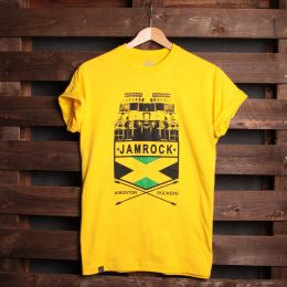 T-shirt Jamrock Kingston Rockers | żółty