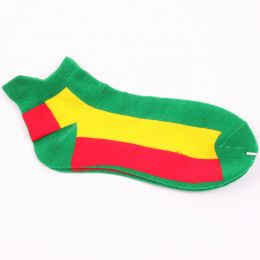 Rasta ankle socks