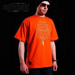 Koszulka męska - Nuff Lion Roots Wear 01213 - orange