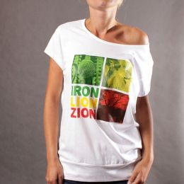 Top damski - Iron Lion Zion - biel