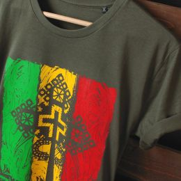 Zion Gate Jah Light - khaki tshirt | Organic Cotton